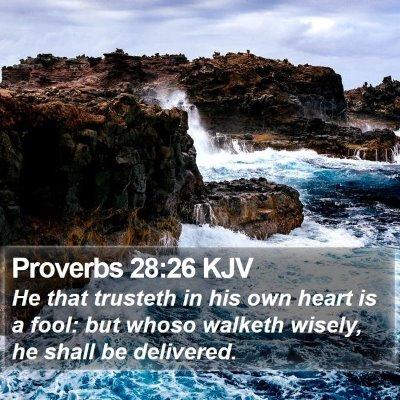 Proverbs 28:26 KJV Bible Verse Image
