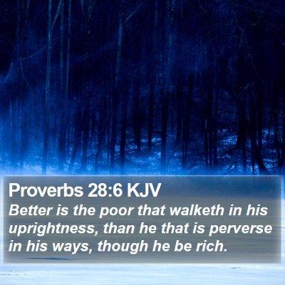 Proverbs 28:6 KJV Bible Verse Image