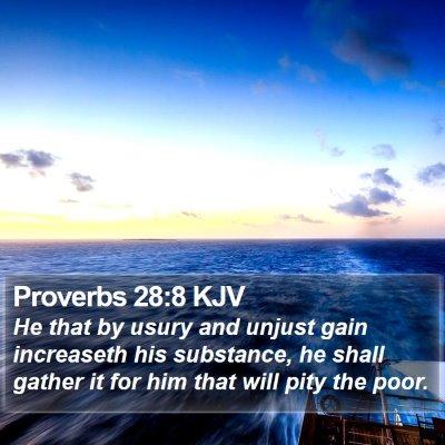 Proverbs 28:8 KJV Bible Verse Image