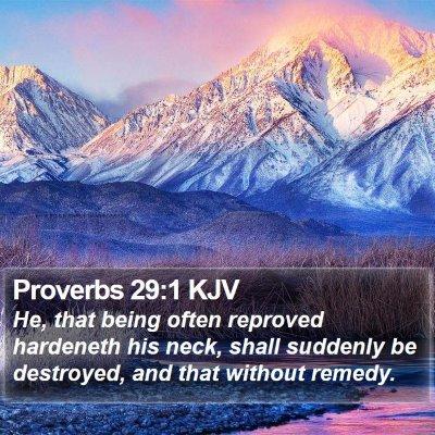 Proverbs 29:1 KJV Bible Verse Image