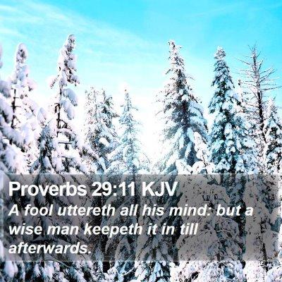 Proverbs 29:11 KJV Bible Verse Image