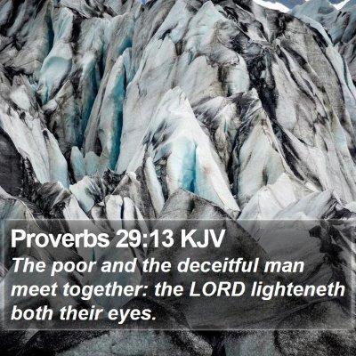 Proverbs 29:13 KJV Bible Verse Image