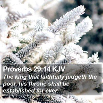 Proverbs 29:14 KJV Bible Verse Image