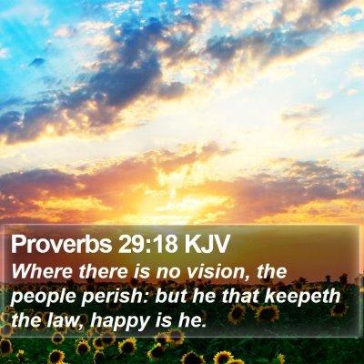 Proverbs 29:18 KJV Bible Verse Image