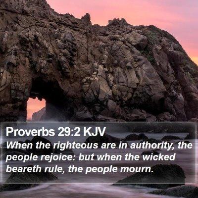 Proverbs 29:2 KJV Bible Verse Image
