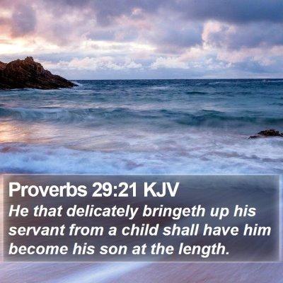 Proverbs 29:21 KJV Bible Verse Image