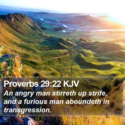 Proverbs 29:22 KJV Bible Verse Image