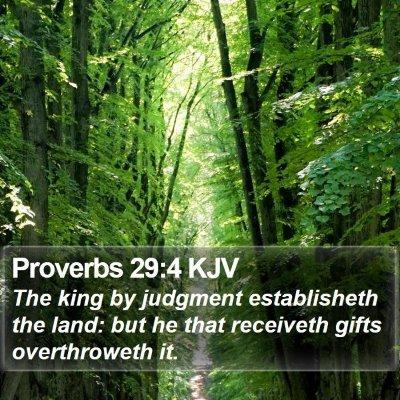 Proverbs 29:4 KJV Bible Verse Image