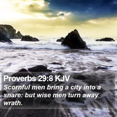 Proverbs 29:8 KJV Bible Verse Image