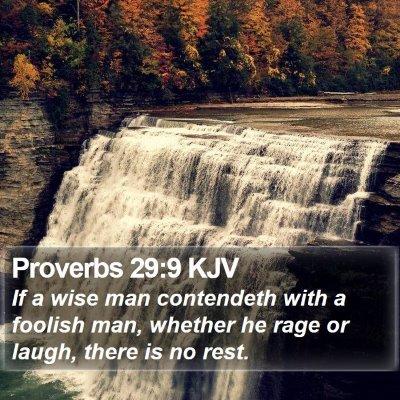 Proverbs 29:9 KJV Bible Verse Image