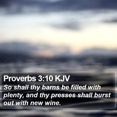 Proverbs 3:10 KJV Bible Verse Image
