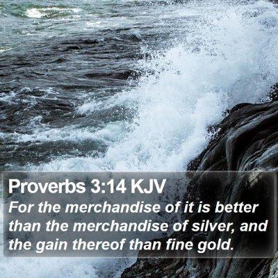 Proverbs 3:14 KJV Bible Verse Image