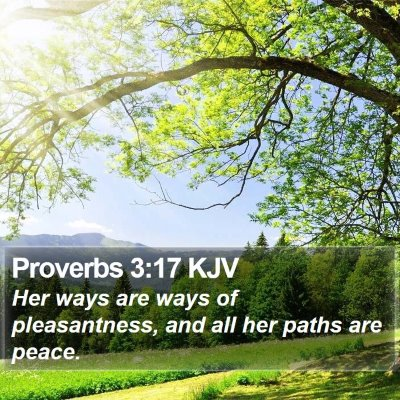 Proverbs 3:17 KJV Bible Verse Image