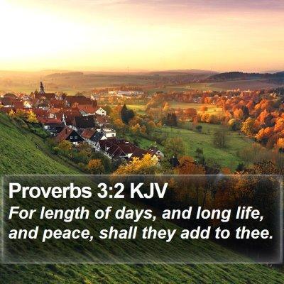 Proverbs 3:2 KJV Bible Verse Image