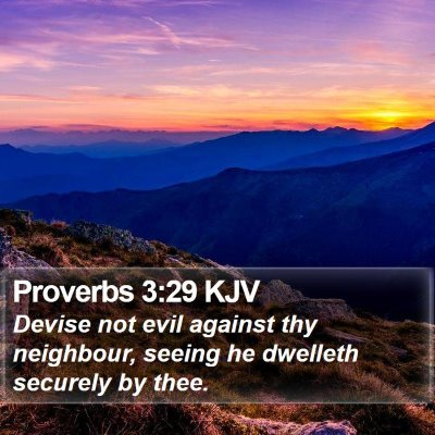 Proverbs 3:29 KJV Bible Verse Image