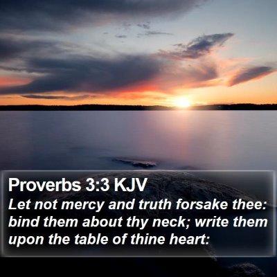 Proverbs 3:3 KJV Bible Verse Image