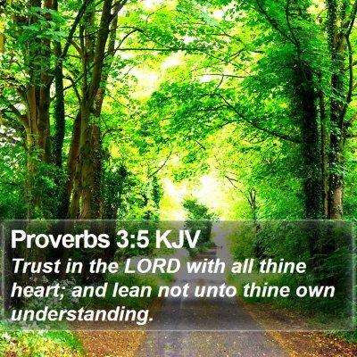 Proverbs 3:5 KJV Bible Verse Image