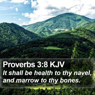 Proverbs 3:8 KJV Bible Verse Image
