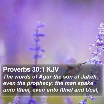 Proverbs 30:1 KJV Bible Verse Image