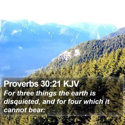 Proverbs 30:21 KJV Bible Verse Image