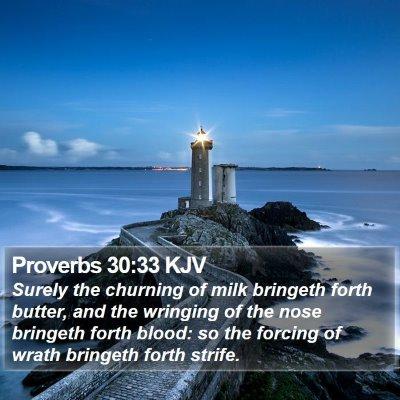 Proverbs 30:33 KJV Bible Verse Image