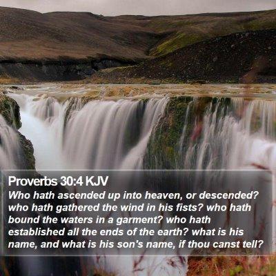 Proverbs 30:4 KJV Bible Verse Image