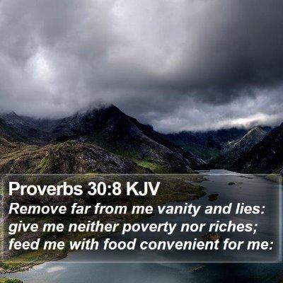Proverbs 30:8 KJV Bible Verse Image