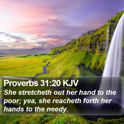Proverbs 31:20 KJV Bible Verse Image
