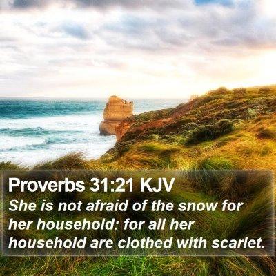 Proverbs 31:21 KJV Bible Verse Image
