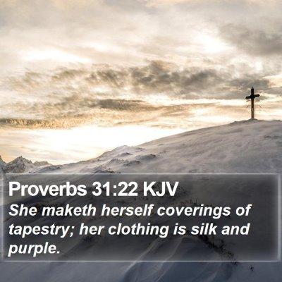 Proverbs 31:22 KJV Bible Verse Image