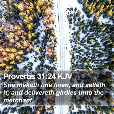 Proverbs 31:24 KJV Bible Verse Image