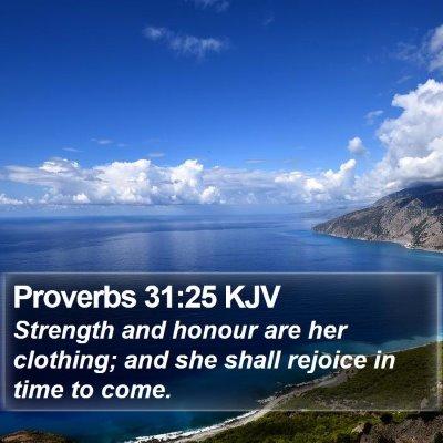 Proverbs 31:25 KJV Bible Verse Image