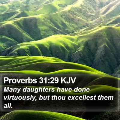 Proverbs 31:29 KJV Bible Verse Image
