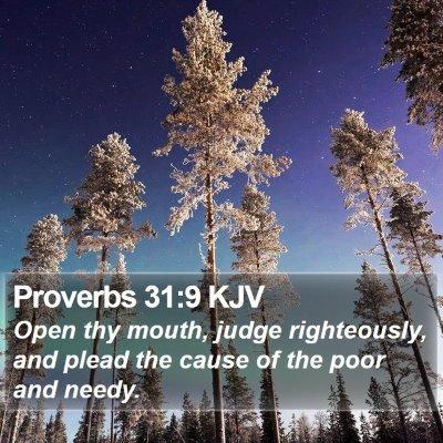 Proverbs 31:9 KJV Bible Verse Image