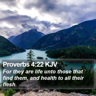 Proverbs 4:22 KJV Bible Verse Image