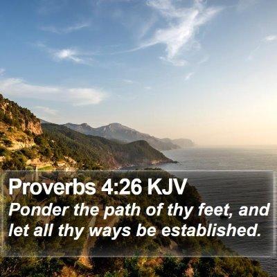 Proverbs 4:26 KJV Bible Verse Image