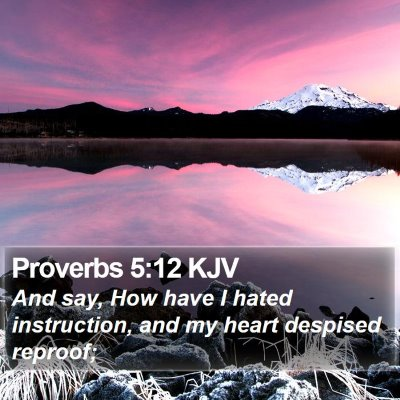 Proverbs 5:12 KJV Bible Verse Image