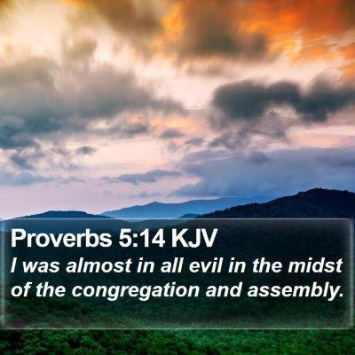 Proverbs 5:14 KJV Bible Verse Image