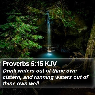 Proverbs 5:15 KJV Bible Verse Image