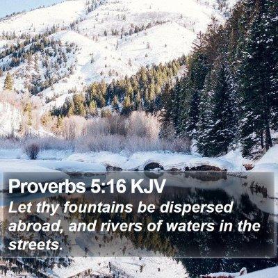 Proverbs 5:16 KJV Bible Verse Image
