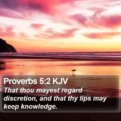 Proverbs 5:2 KJV Bible Verse Image