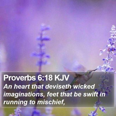 Proverbs 6:18 KJV Bible Verse Image