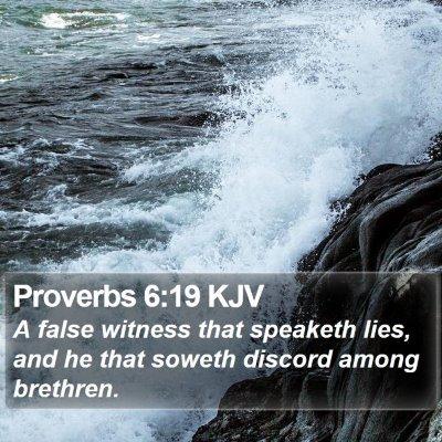Proverbs 6:19 KJV Bible Verse Image