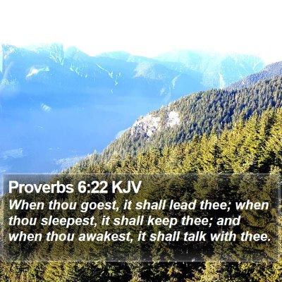 Proverbs 6:22 KJV Bible Verse Image