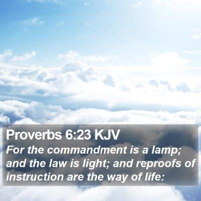 Proverbs 6:23 KJV Bible Verse Image