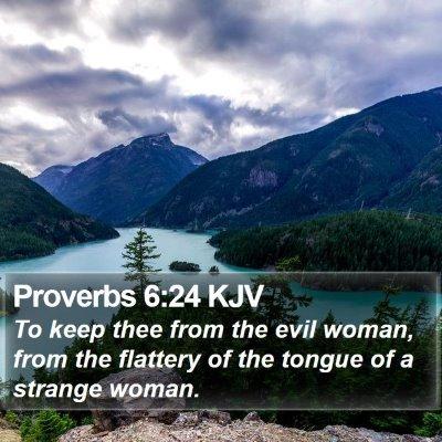 Proverbs 6:24 KJV Bible Verse Image