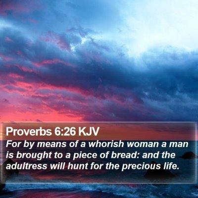 Proverbs 6:26 KJV Bible Verse Image
