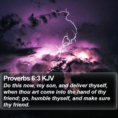Proverbs 6:3 KJV Bible Verse Image