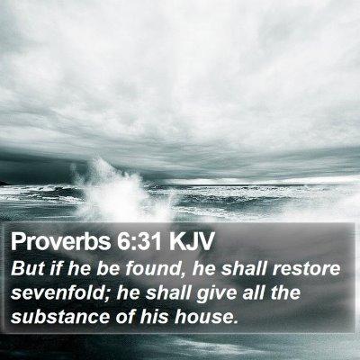 Proverbs 6:31 KJV Bible Verse Image
