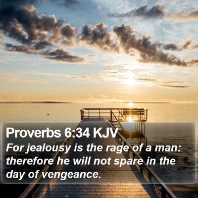 Proverbs 6:34 KJV Bible Verse Image